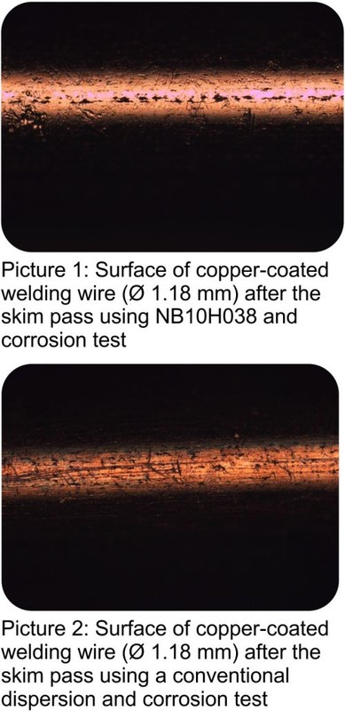 Corrosion protecting Skim-Pass Lubricant for copper-coated welding wire